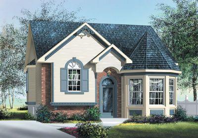 Plan 80370pm Delight Split Level Cottage In 2020 Cottage Style House Plans Victorian House Plans Craftsman House