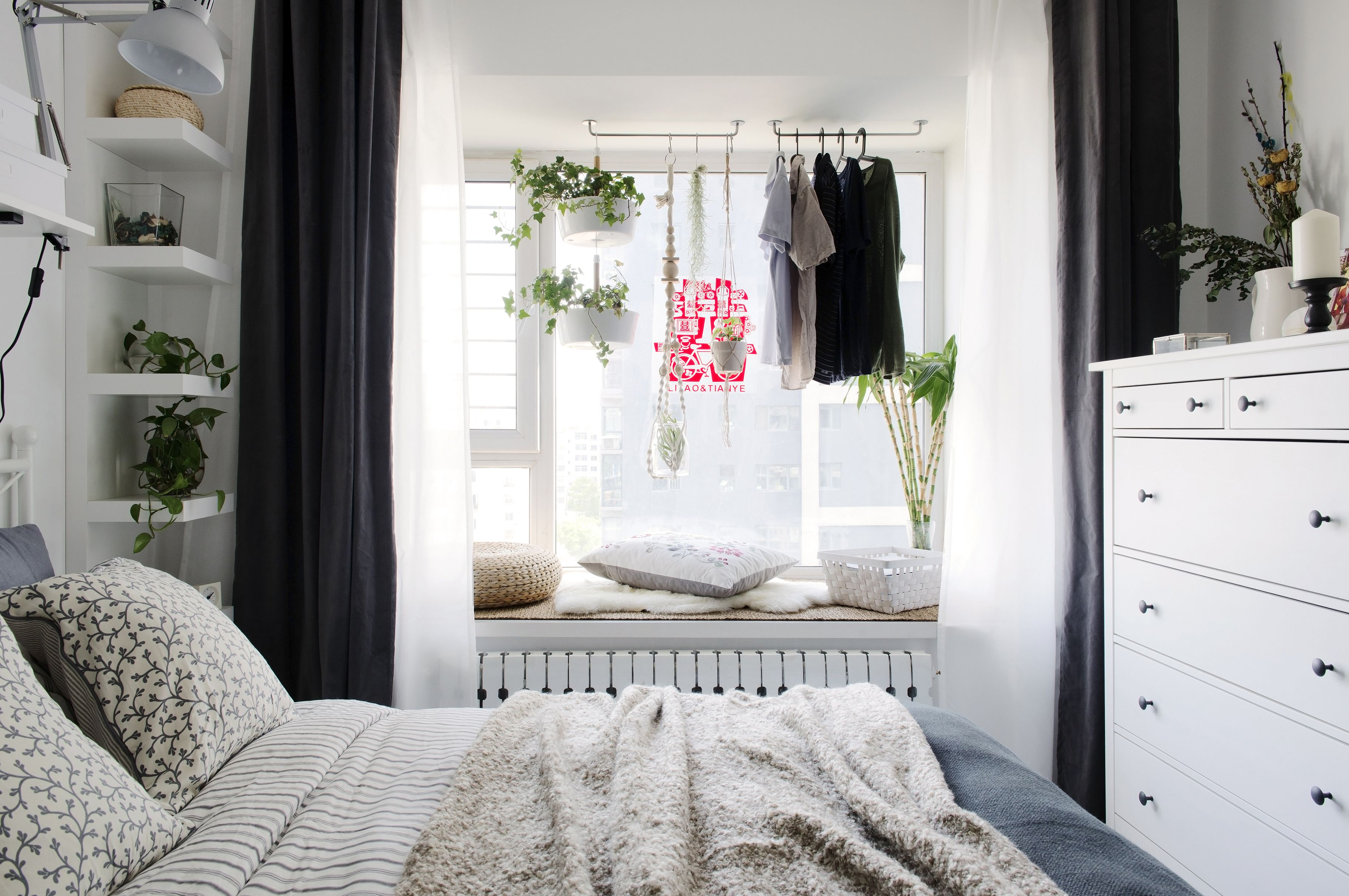 Bedroom Gallery Small Room Interior Relaxing Cool Curtains