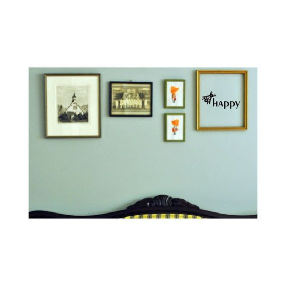 Be Happy - wall decal