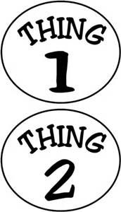 photo about Thing 2 Logo Printable titled Issue 1 Factor 2 Printables - Bing shots Dr Seuss in just 2019