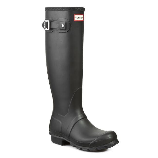 Kalosze Hunter Womens Org Tall Wft1000rma Black Boots Hunter Boots Rain Boots