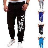 SHOWNO Womens Casual Slim Print Harem Elastic Waist Jogging Pants Trousers