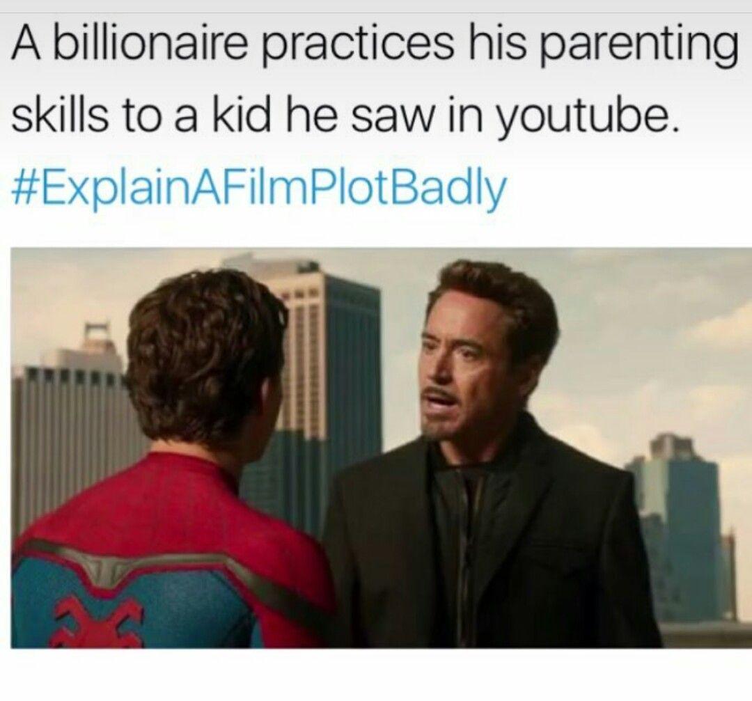 Pin By Bernie On Iron Man Rdj Explain A Film Plot Badly Marvel Funny Marvel Jokes