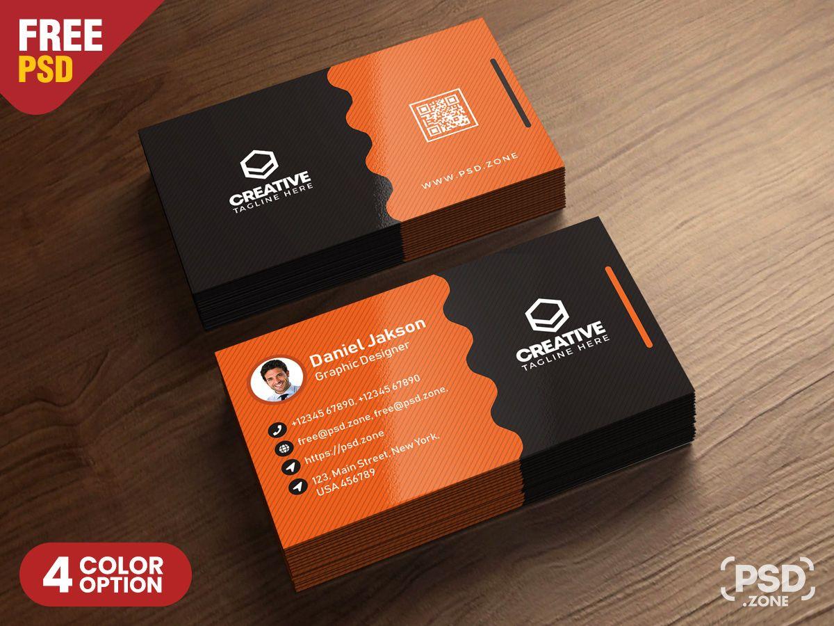 Clean Business Card Psd Templates Psd Zone With Template Name Card Psd Profes Business Card Psd Business Cards Creative Templates Free Business Card Design