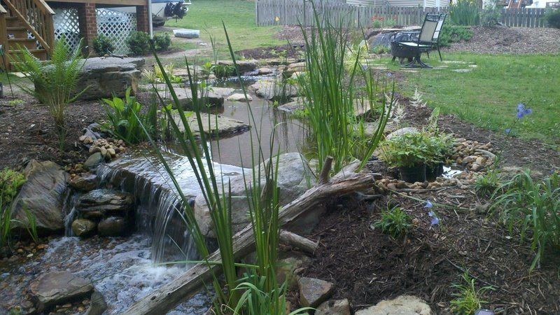 Pondless waterfall in in Greenville SC.  platinumponds.com