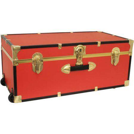 Mercury Luggage Seward Trunk Wheeled Storage Footlocker 30