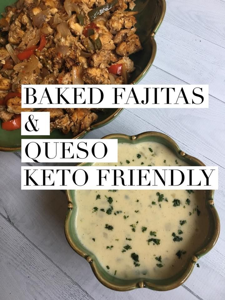 Baked Fajitas and Queso is a great Keto and Low Carb dinner!  Make this delicious dinner that the whole family will love! #ketodinner #lowcarbdinner #fajitasandqueso #ketogenic #lchf #kaseytrenum