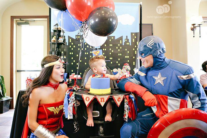Kaleb S 1st Birthday Party Superheroes Themed 1st Birthday