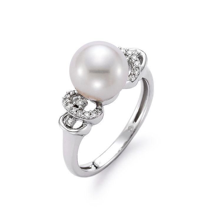 Diamond and Pearl Ring available at Houston Jewelry Wedding