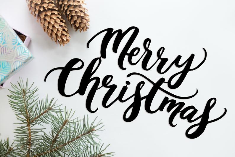 Christmas Word Wishes Congratulations Metal Wall Hanging Word Wall Art Wall Signs Decor Metal Wall Hangings
