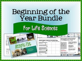 Ease into those first few weeks of school with ample materials that will further prepare you to start off on the right foot for any biology or life science class!