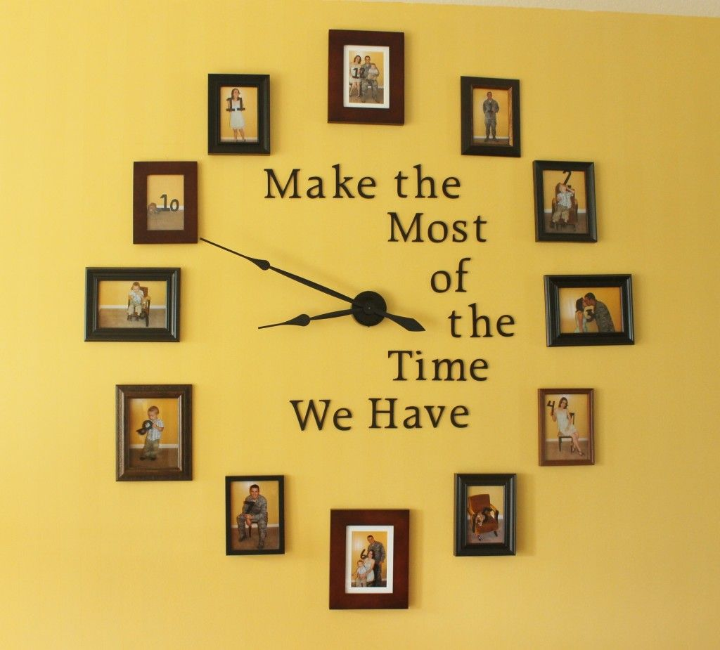 Diy Large Photo Wall Clock Home Decorating Craft With Frames Diy Clock Wall Photo Wall Clocks Wall Clock Design