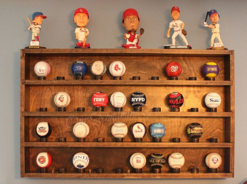 DIY Baseball Collection Display