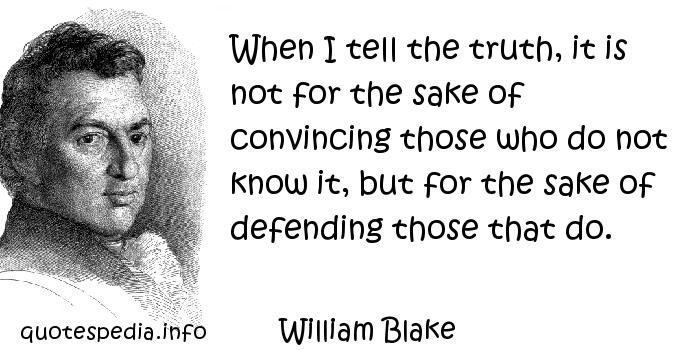 William Blake on the truth