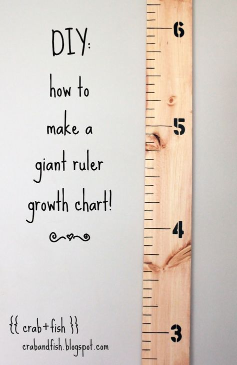 DIY:giant ruler growth chart! ~ Making for J's brithday :)