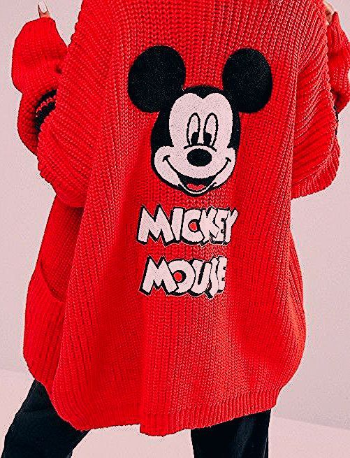 Photo of Lazy Oaf X Disney Mickey Mouse College Cardigan | ASOS