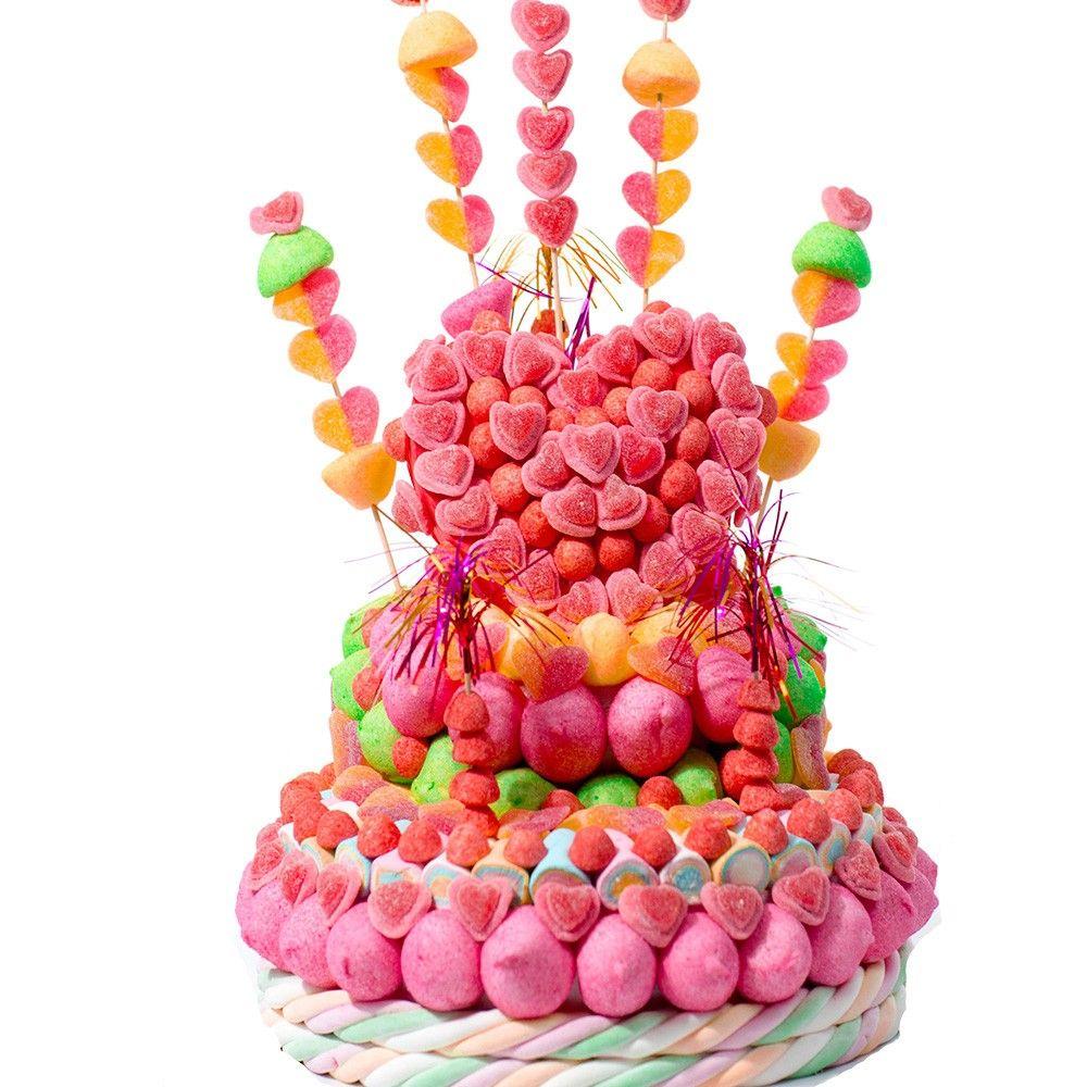 """Dites-lui """"Je t'aime"""" avec ce magnifique gâteau de bonbons """"Le Mélinda"""""""