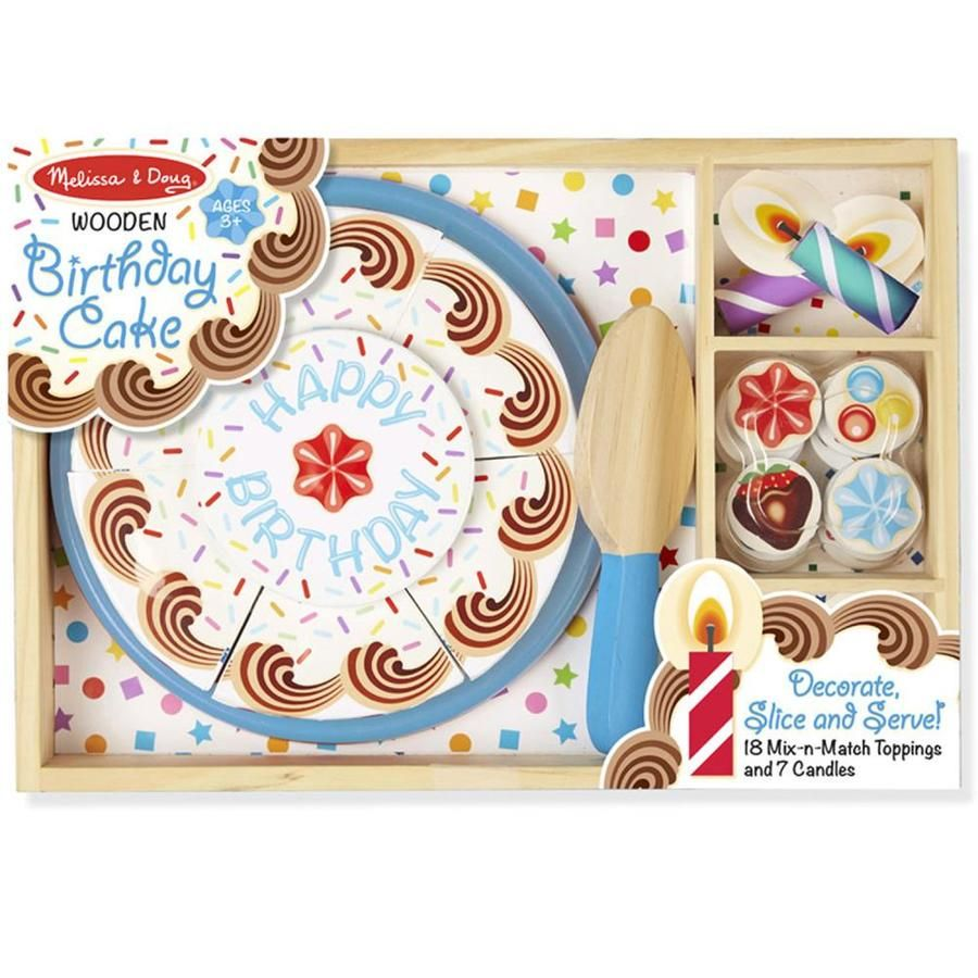 Melissa doug birthday party wooden play food 34 lowes
