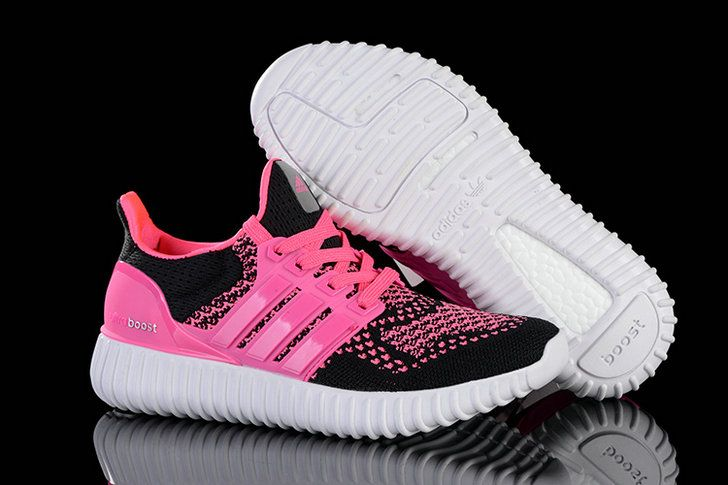 free shipping 4ea17 14024 WMNS Adidas Yeezy Ultra Boost 2016 Pink Flash Black White UK Trainers 2017 Running  Shoes 2017