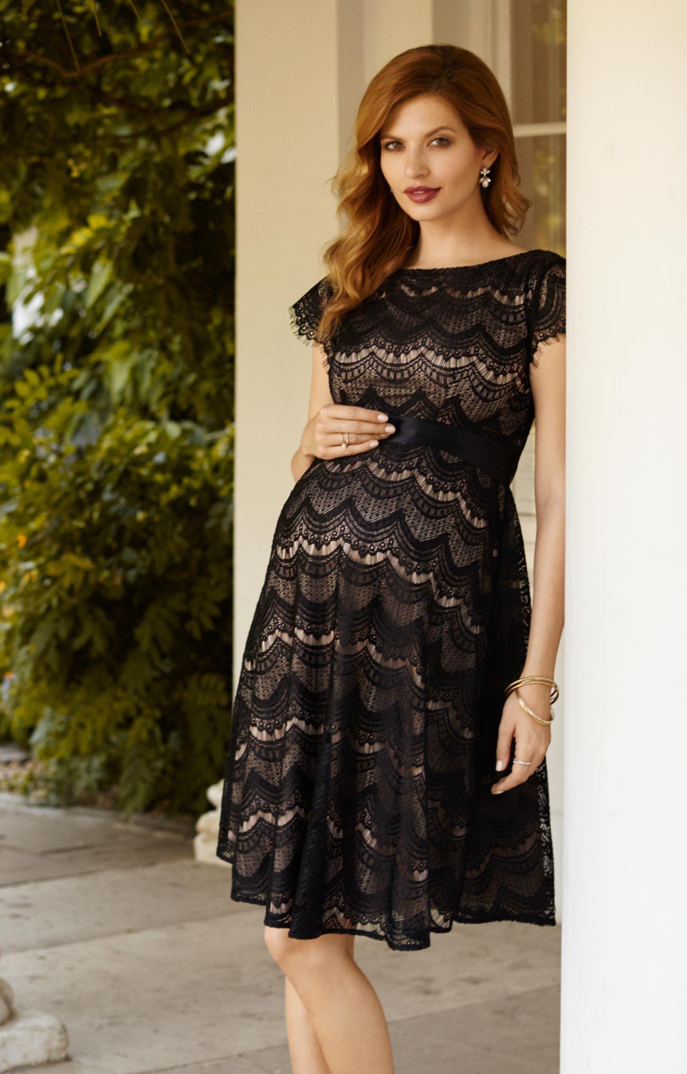 Flutter Lace Maternity Dress Brudklänningar, aftonkläder
