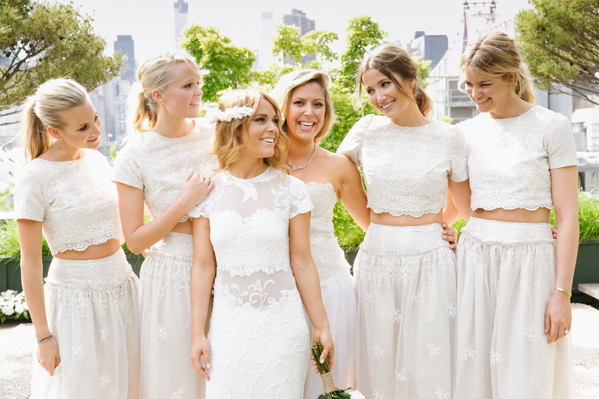 Custom ivory crop top bridesmaid dresses bridesmaid custom ivory crop top bridesmaid dresses ombrellifo Image collections