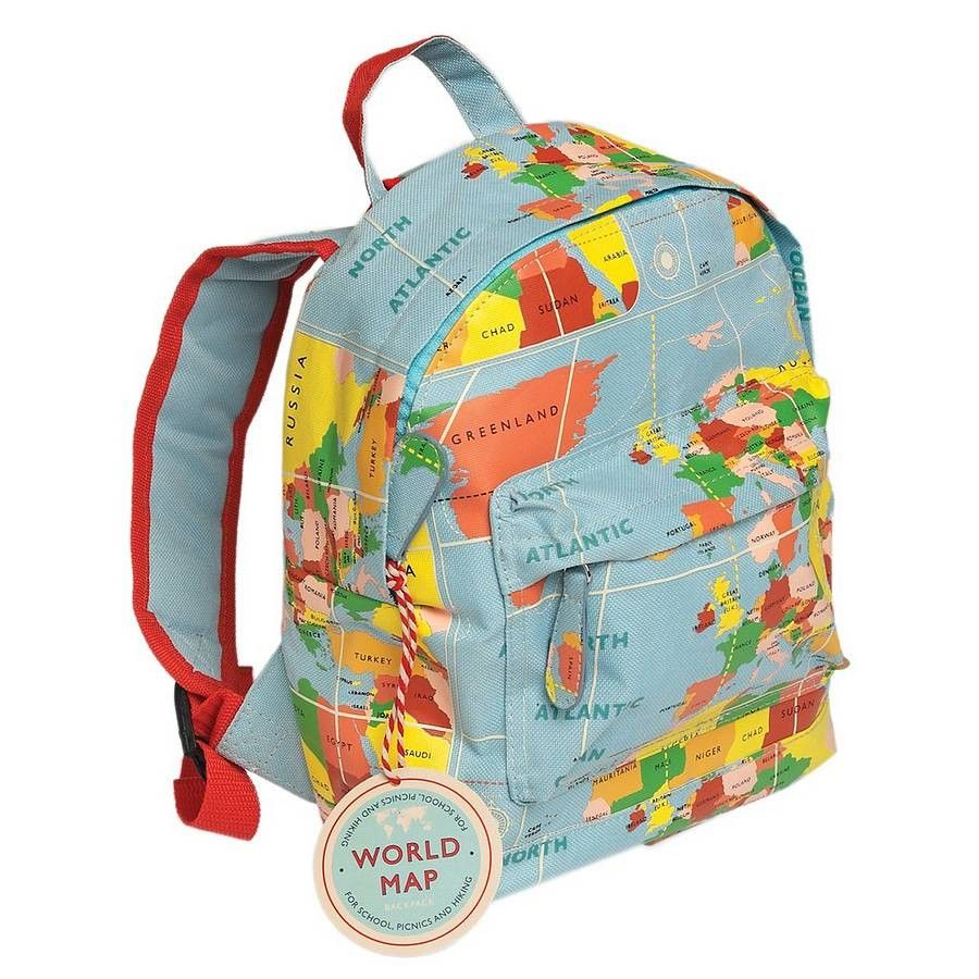 Vintage world map mini childrens backpack with carry handle and vintage world map mini childrens backpack with carry handle and adjustable padded shoulder straps this gumiabroncs Image collections