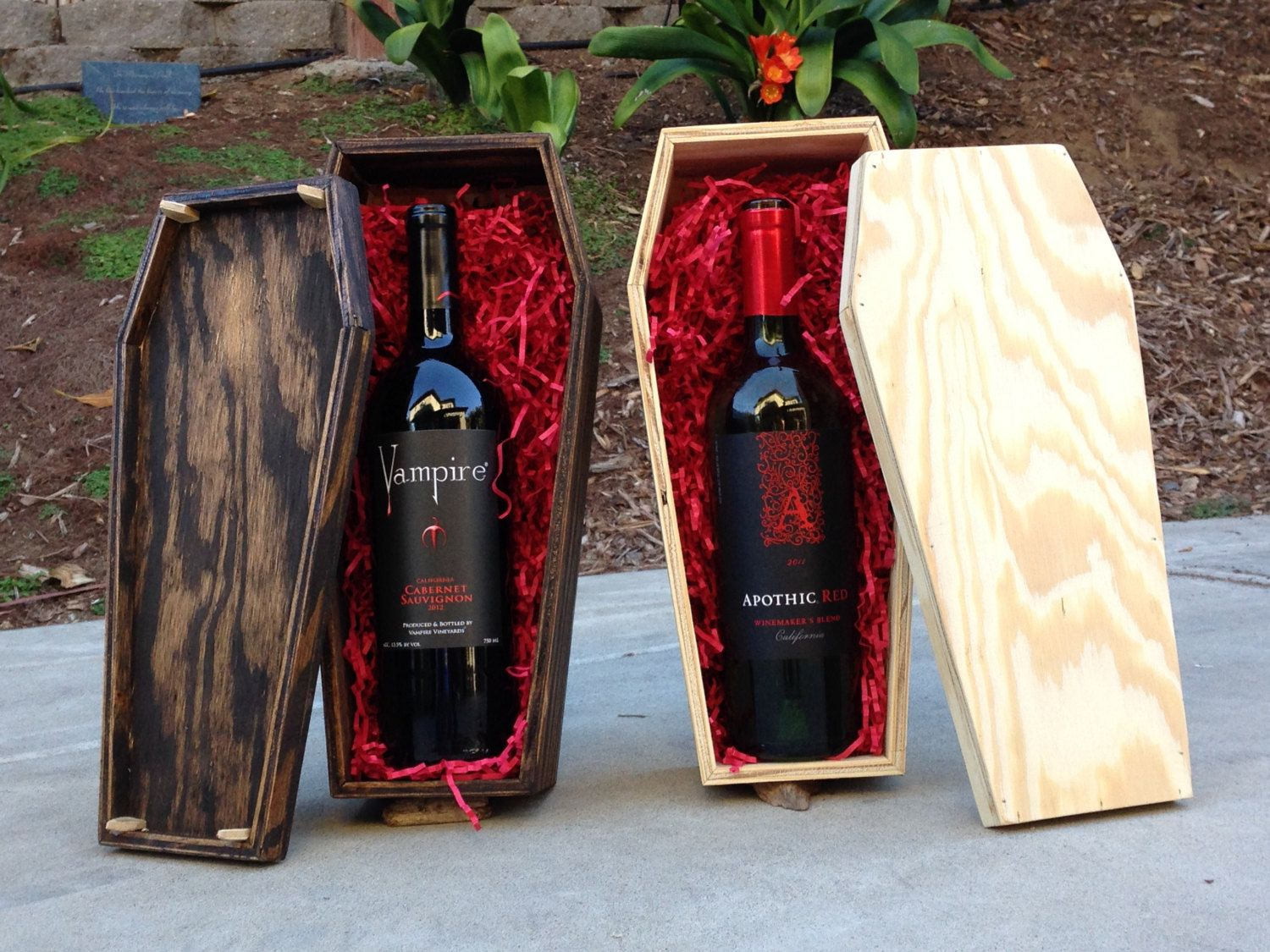 Wine Coffin Gift Box By Diywithkeith On Etsy 25 00 Halloween Goodie Bags Halloween Drinks Wine Soul