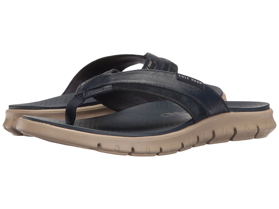 db0726068509 COLE HAAN COLE HAAN - ZEROGRAND FOLD THONG (MARINE BLUE COBBLESTONE) MEN S  SANDALS.  colehaan  shoes
