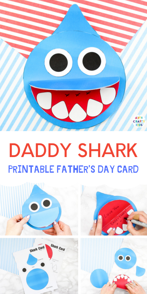 How to Make a Shark Father's Day Card | Arty Crafty Kids