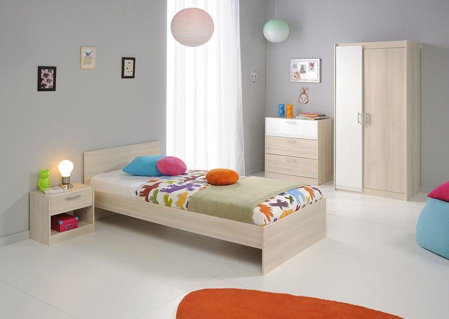 chambre enfant mixte compl te couleur claire acacia. Black Bedroom Furniture Sets. Home Design Ideas
