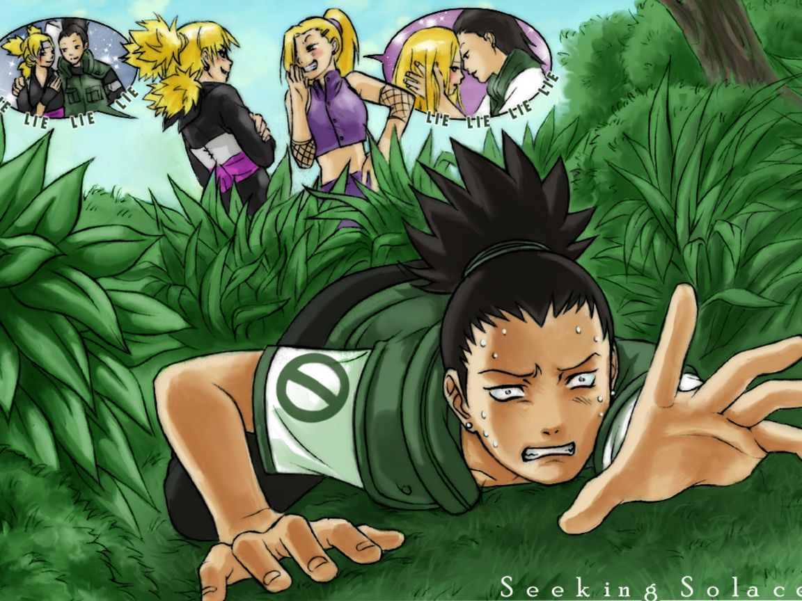 Naruto Couples ♥ Wallpaper: Shikamaru and Temari (and Ino