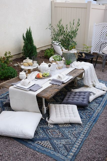 Perfecting The Homefront Elegant Outdoor Breakfast For Two Outdoor Furniture Sets Outside Flooring Outdoor
