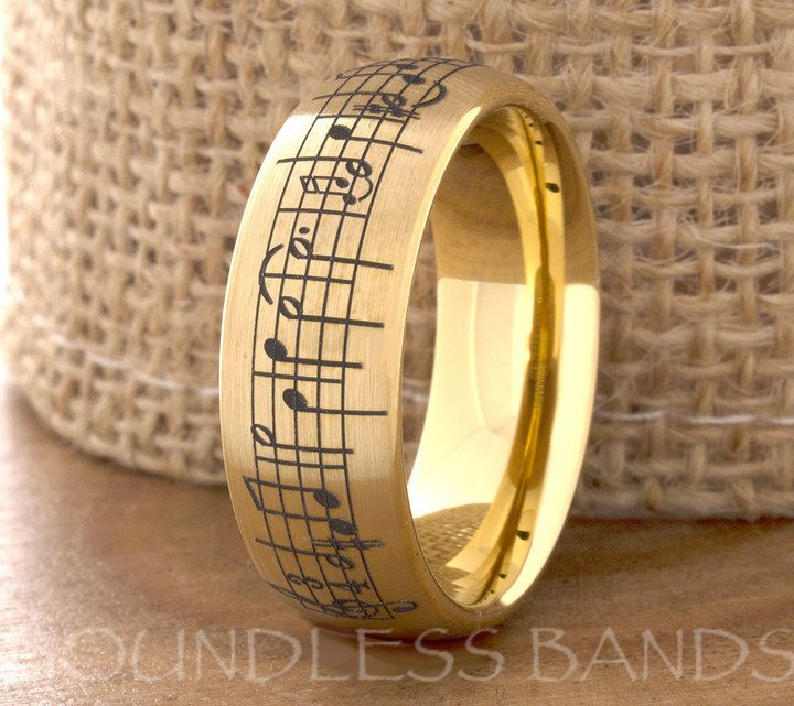 Yellow Gold Tungsten Wedding Ring Mens Womens Wedding Bands Promise