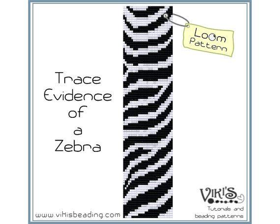 Loom Pattern Trace Evidence Of A Zebra Bracelet Instant