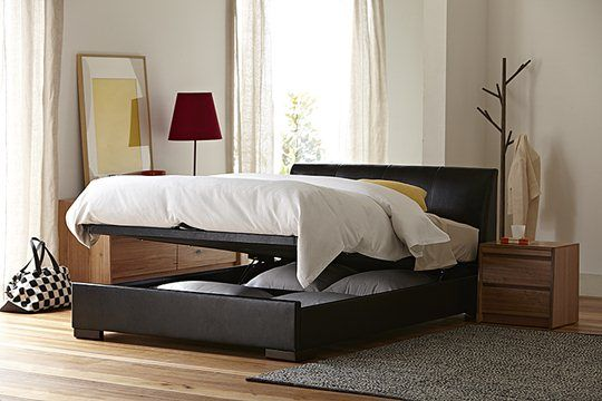 Kenton Queen Bed Frame with Gas Lift Storage (Black) main product image 2 & Kenton Queen Bed Frame with Gas Lift Storage (Black) main product ...