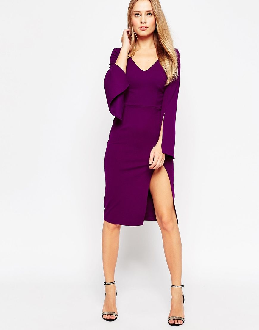 ASOS Plunge Neck Pencil Dress | Jennifer\'s Look | Pinterest