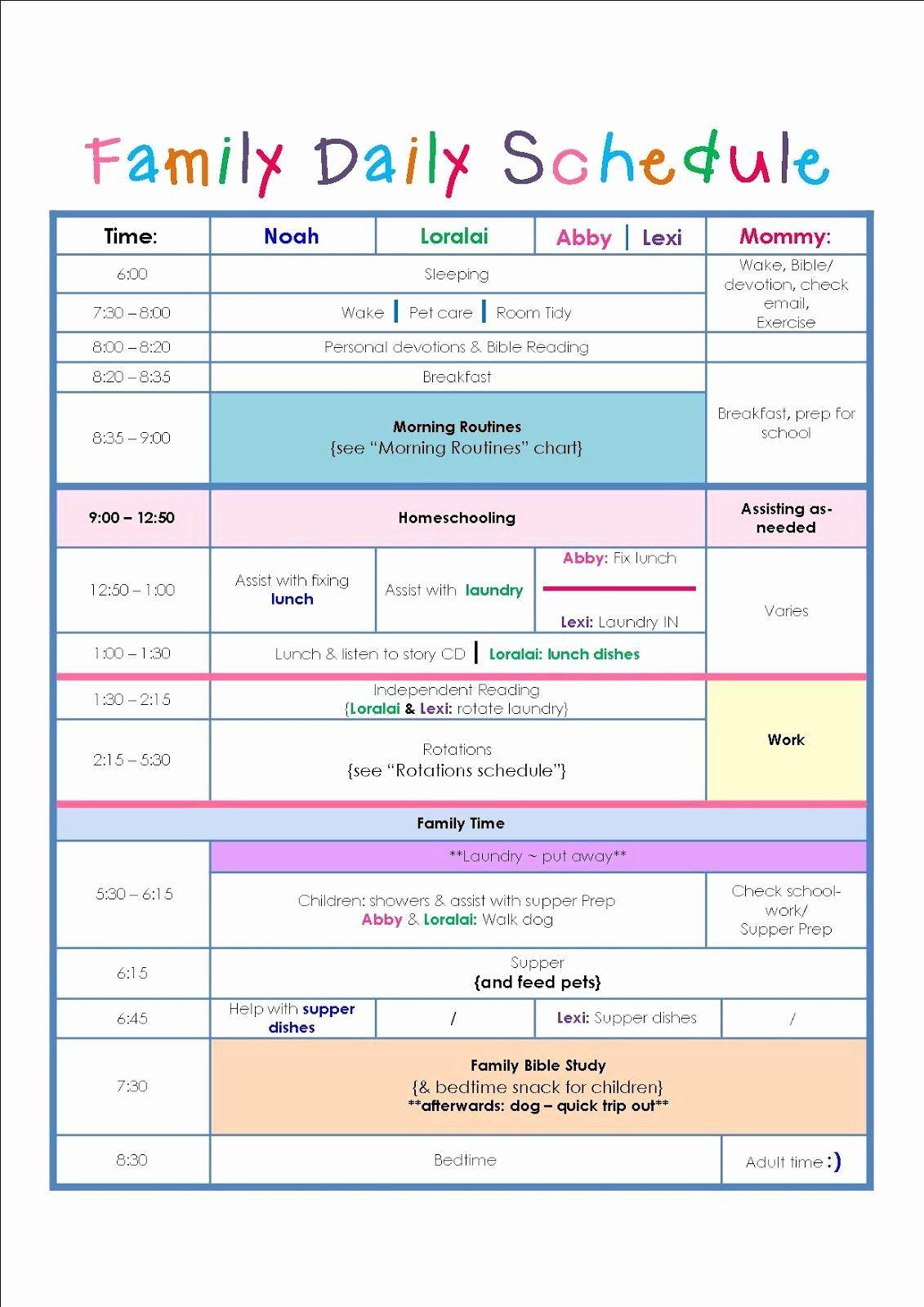 Daily Schedule Free Printable Homeschool Schedule Printable Daily Schedule Template Schedule Printable Free