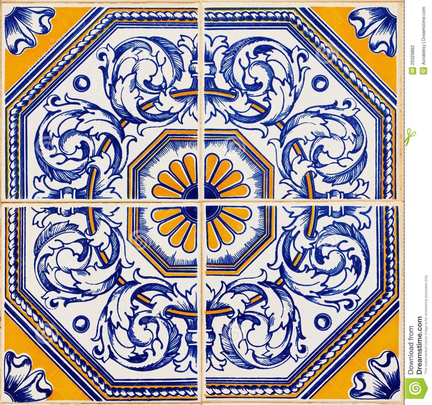 Azulejos portugueses tradicionais fotografia de stock for Azulejos de portugal