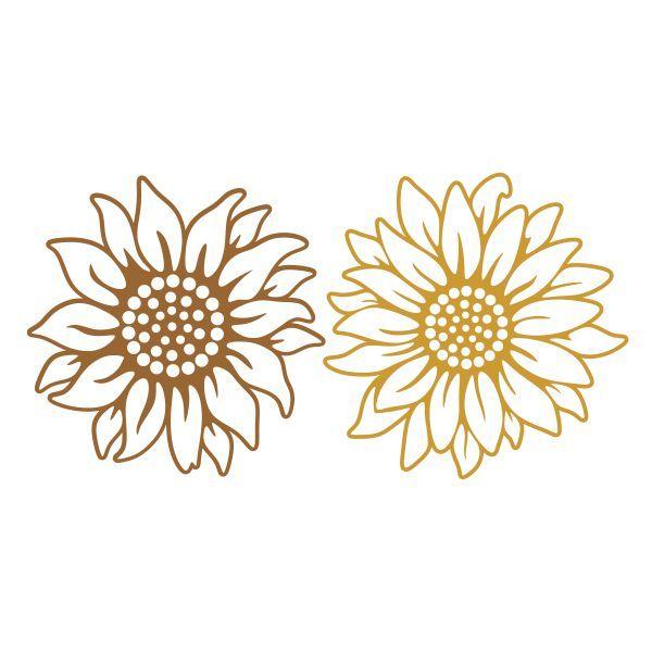 Download Sunflower Cuttable Design   Sunflower stencil, Flower svg ...