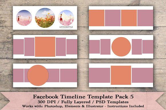Sale Facebook Timeline Template Pack By Loveurstyle Designs On
