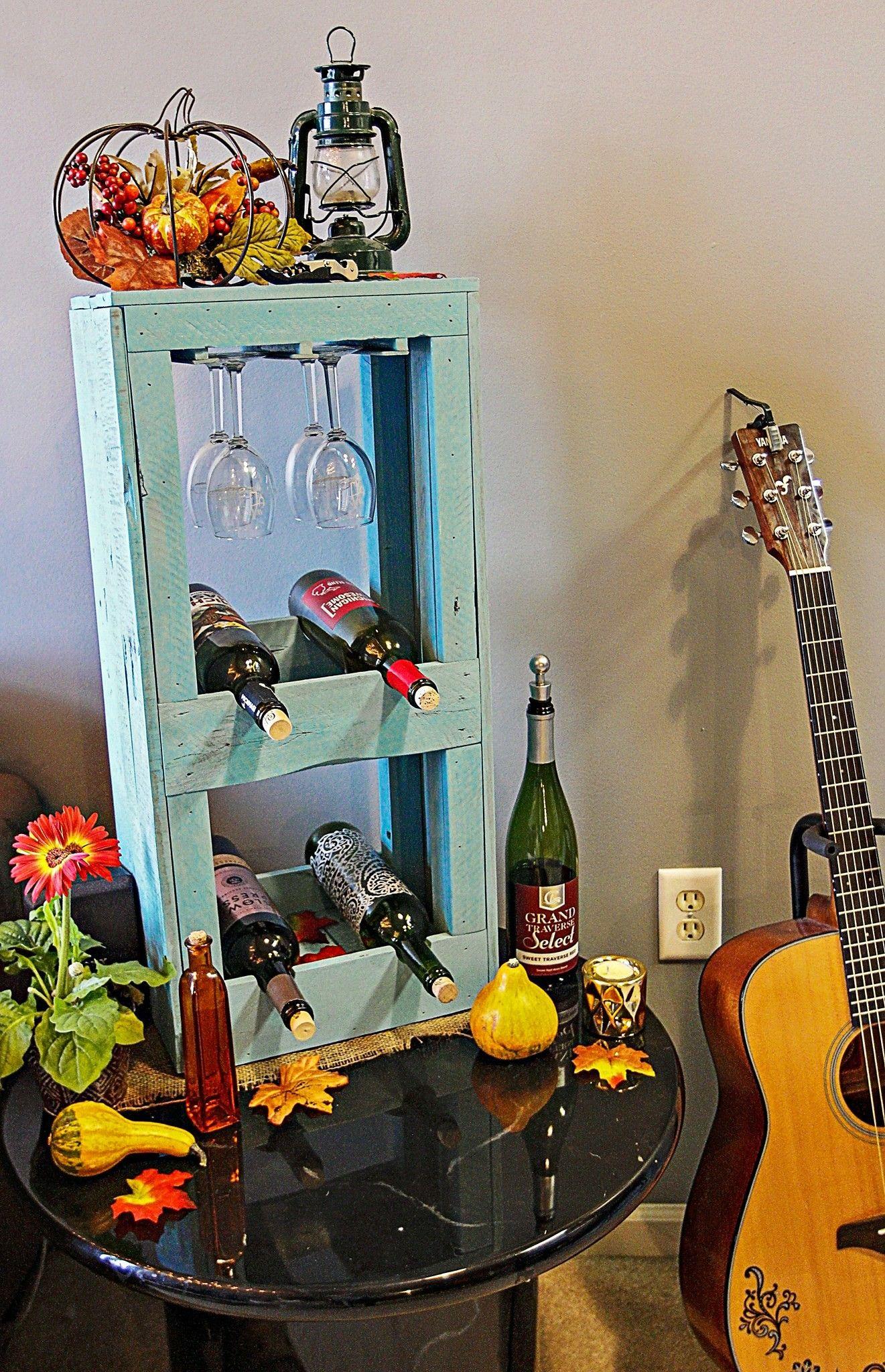 Diy pallet wood wine rackwine display wine display