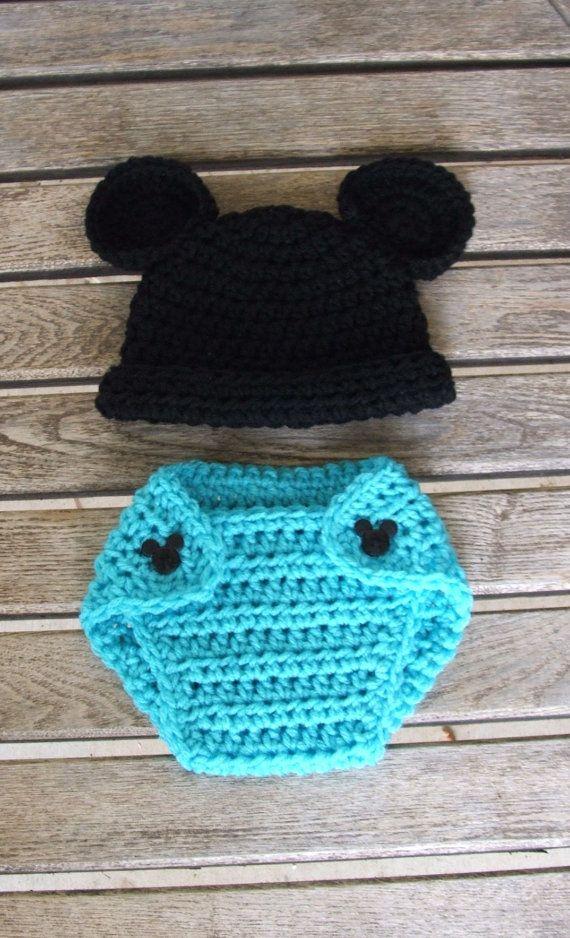 Luxury Mickey Und Minnie Maus Häkelarbeithut Muster Frieze - Decke ...