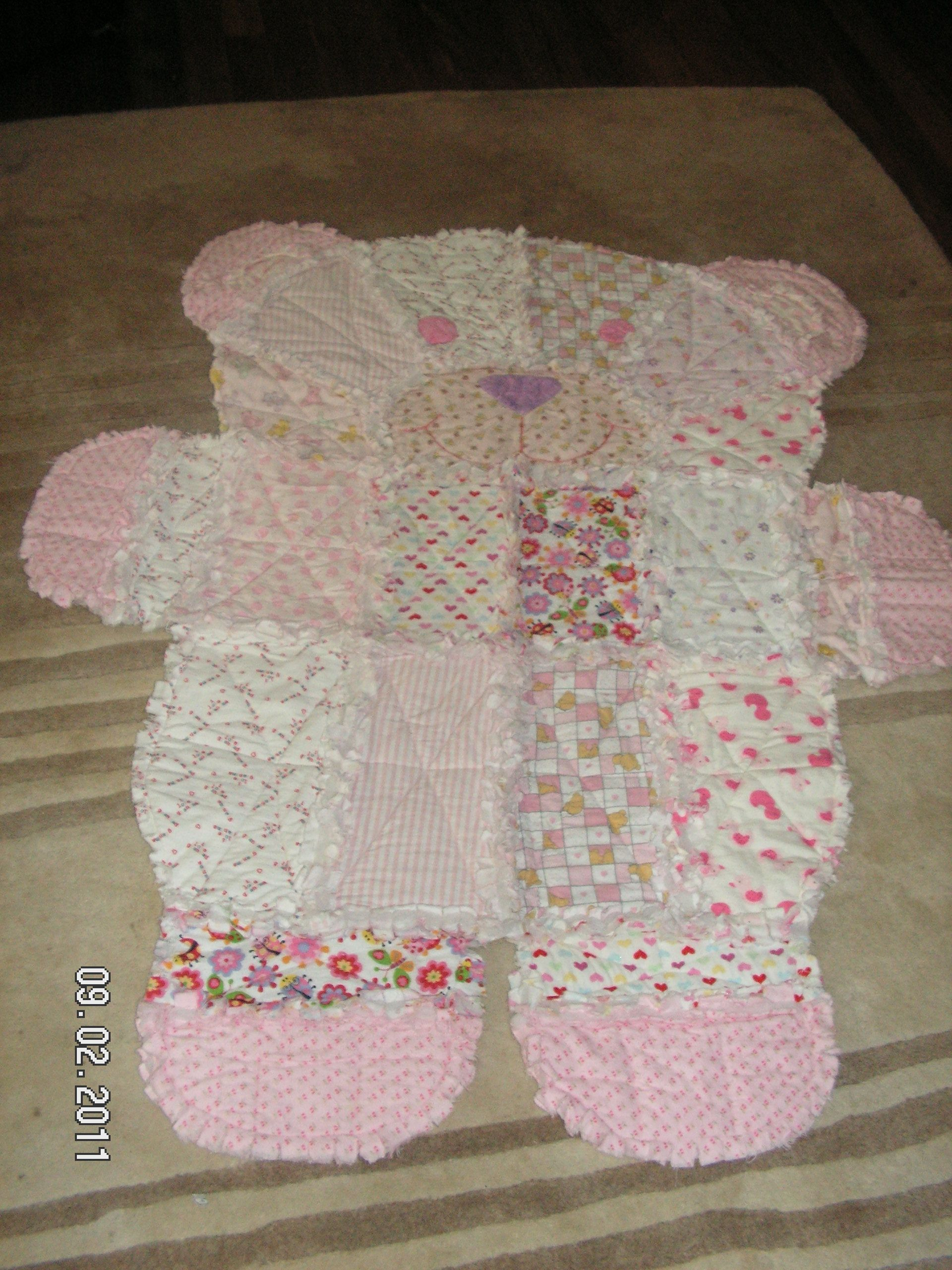 Teddy Bear Quilt In Flannel Crafts I Have Done And