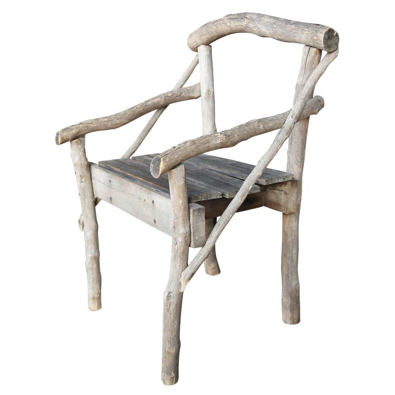 Early 20th Century Antique French Woodland Twig Arm Chair