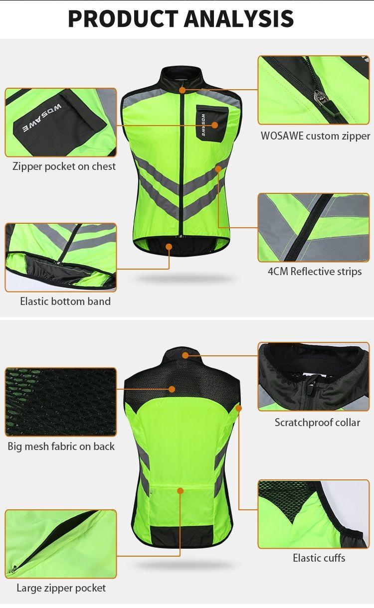 High Visibility Cycling Jacket Reflective Cycling Vest Cycling Vest Cycling Vest