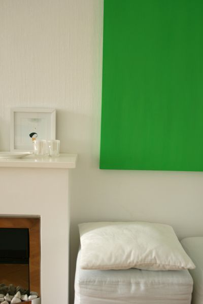 Add color to a room when you can't paint by painting a solid color