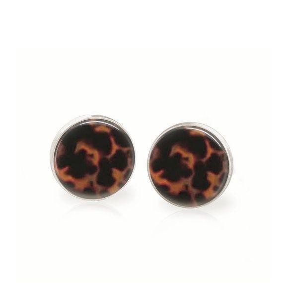 Tortoise Earrings  Glass Dome Earrings  Studs by peachypendants, $12.00,  #Dome #Earrings #Gl…