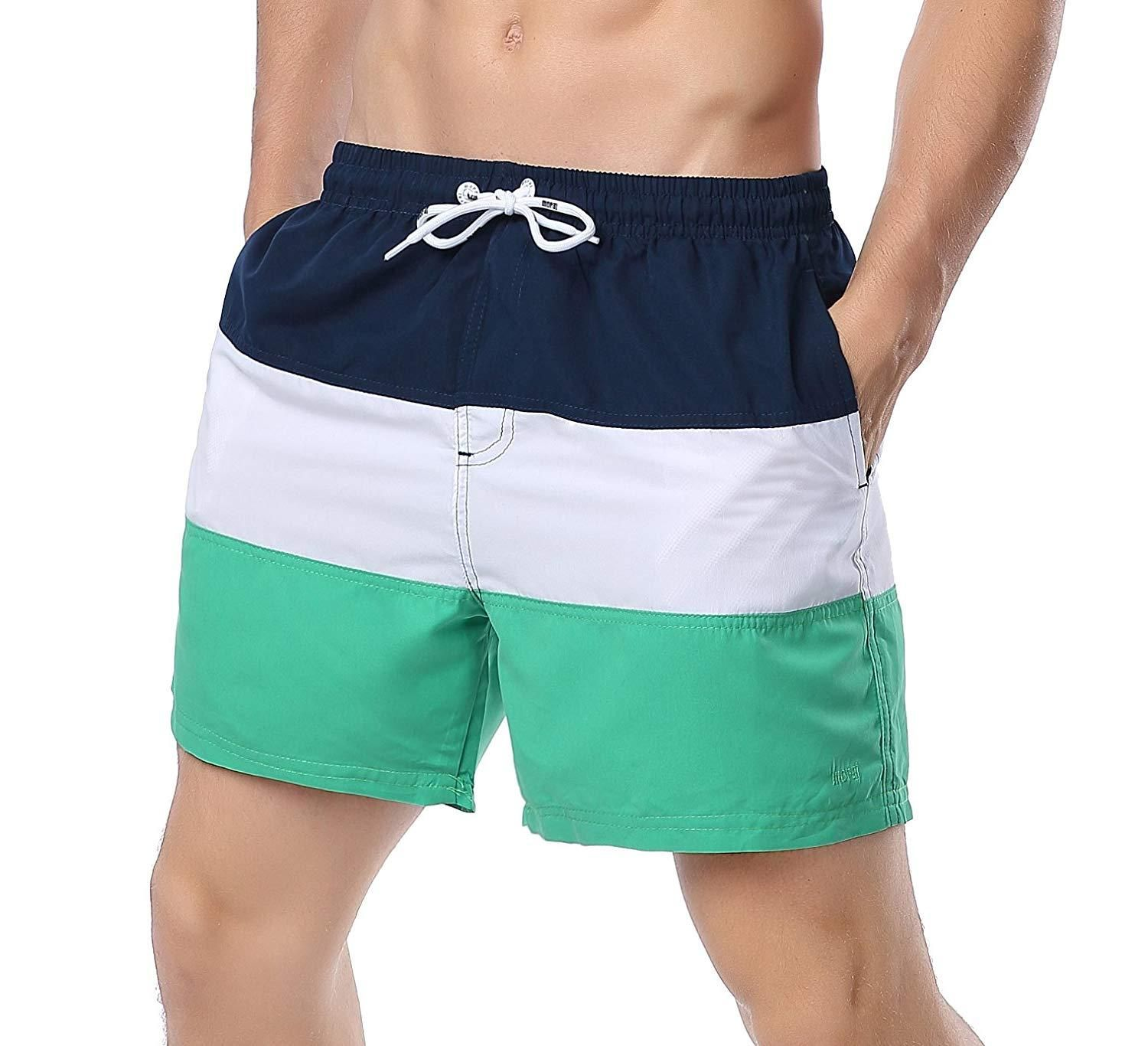 YuKaiChen Mens Swim Trunks Quick Dry Bathing Suits