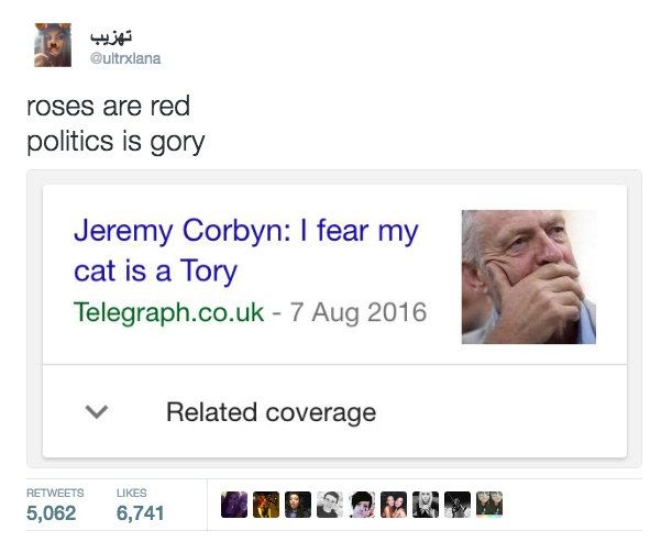 19 Of The Funniest Roses Are Red Tweets Jeremy Corbyn Memes