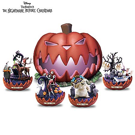 Nightmare Before Christmas Illuminated Sculpture Collection